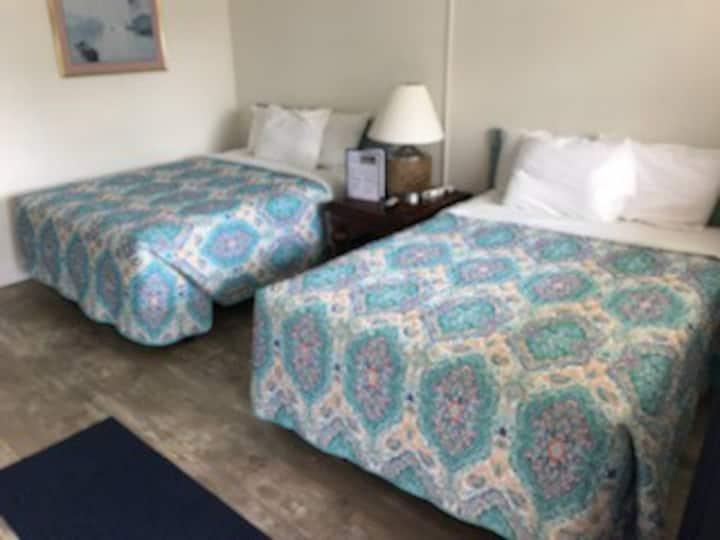 Inn room # 9  w/ 2 double beds