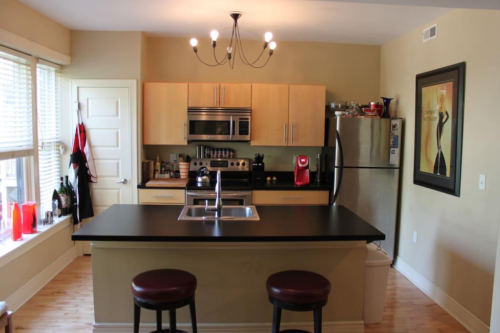 Fully Stocked Kitchen area
