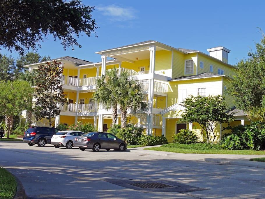 Front of the house, condo on top level in building 8 next to a pool and just a minute away from the Clubhouse