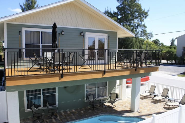 Private balcony and heated pool
