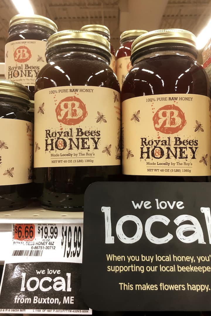 Our finished honey in retail stores