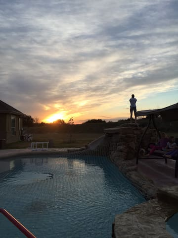 Amazing sunset views from the private pool!