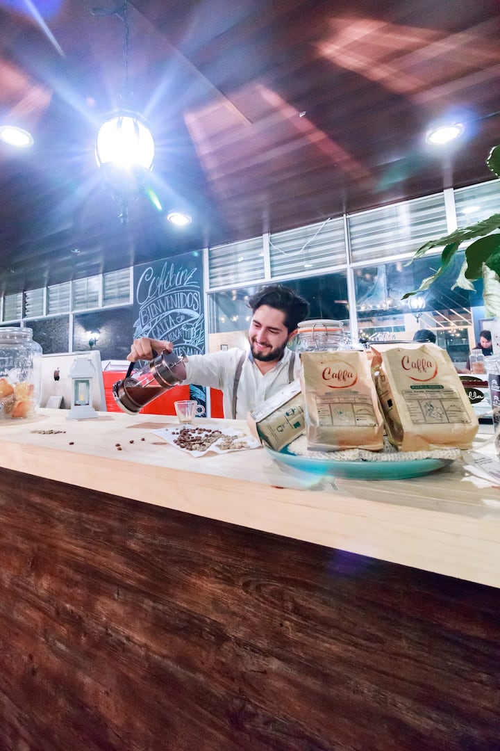 Juan Serving Coffee