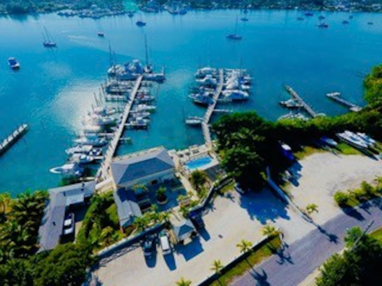 Arial view of Marsh Harbour Marina