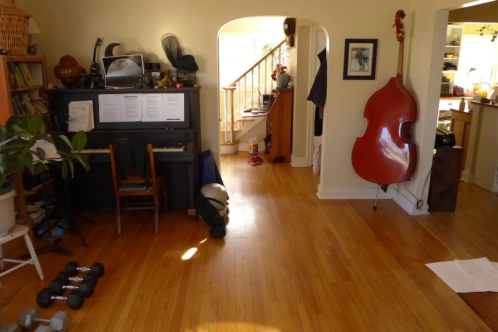 There is often music in the house.