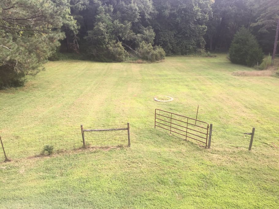 Lower pasture with fire ring