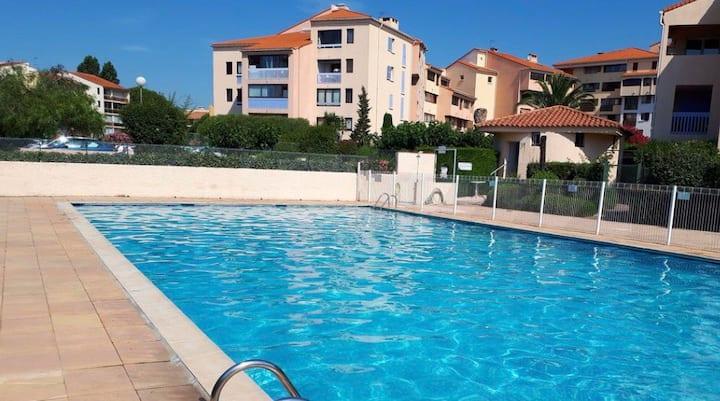 Studio prox centre, clim piscine tennis pkg 2 pers