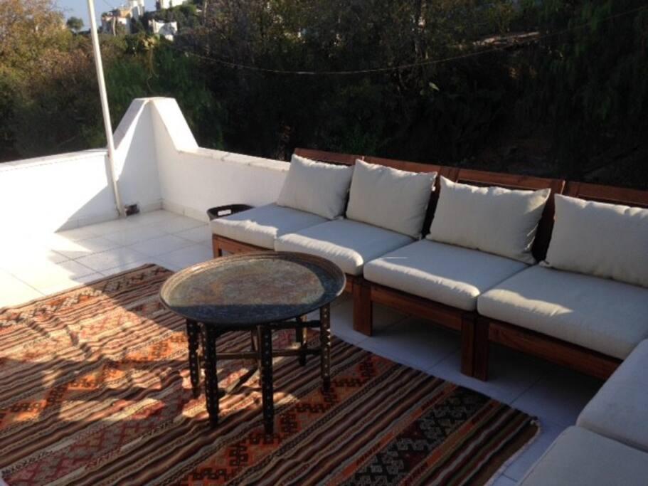 Lower roof terrace