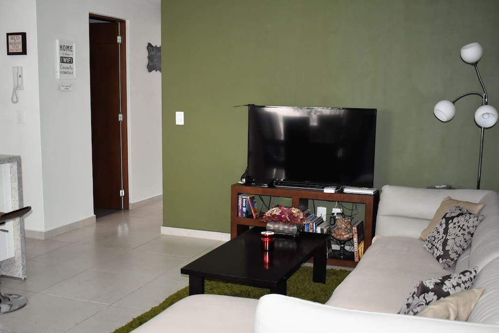 Flat-screen TV in the living room