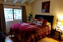 Guest Bedroom: With memory foam mattress topper