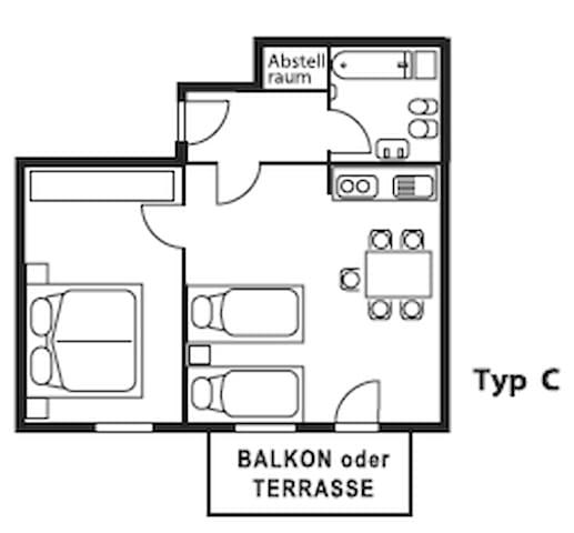 Top! FEWO für 4 Personen mit Balkon 60qm