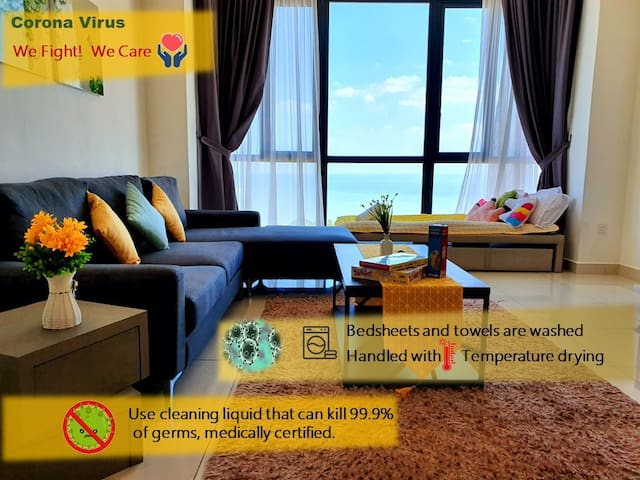 *Long stay promo* Disinfected* near TESCO, Seaview