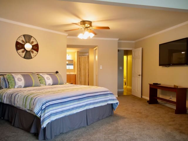 Master Suite with on Master Bathroom, Walk in His and Hers Closets and a Sitting Room....Very Large!
