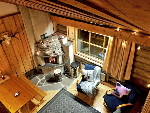 Tunturi Lodge ski in, sauna,by the slopes & center