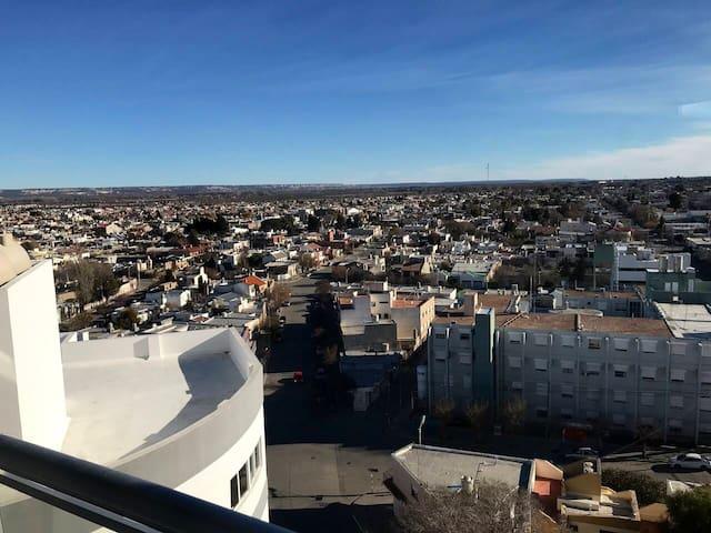 Vista desde el balcón de la meseta patagonica