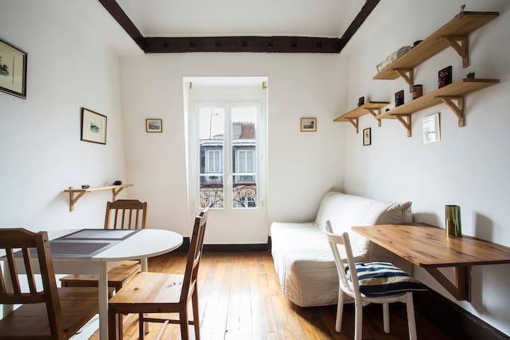 Cozy Monmarte Loft - 15 mins to Sacré-Cœur
