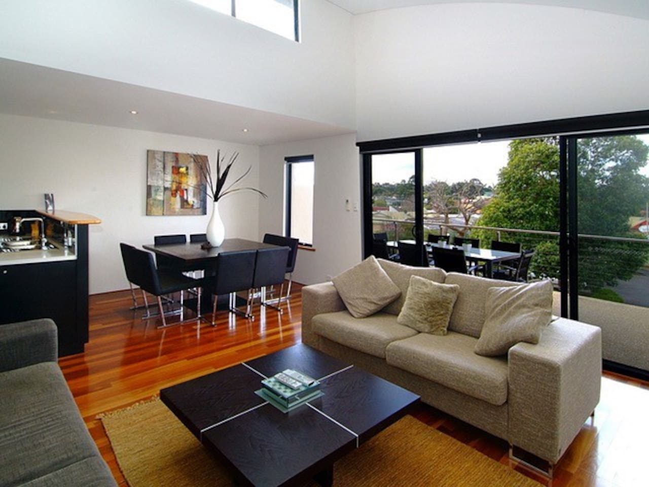 Open plan living with light filled space