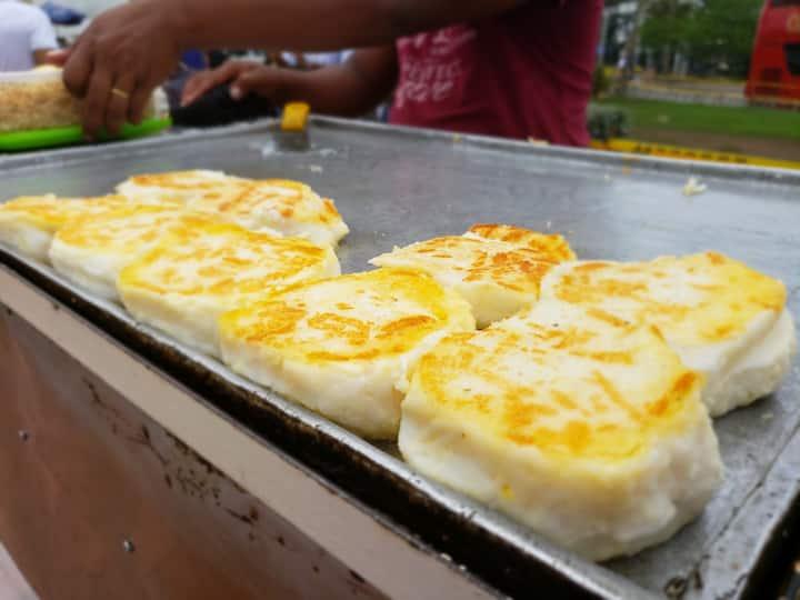 Try cheese arepa