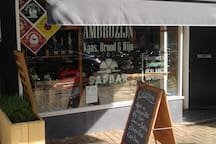 Deli Shop Ambrozijn. Cheese, Bread, Wine