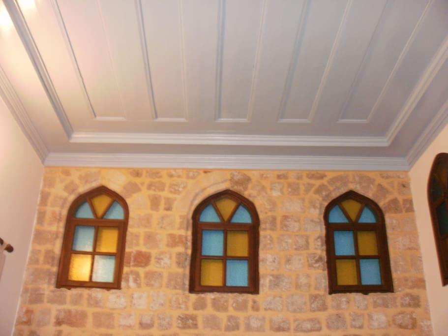 Details of the skylights,originally restored
