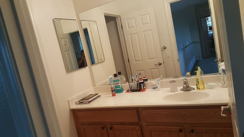 nice and clean shared bathroom