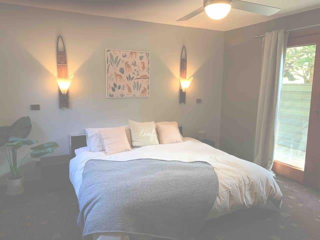 Bedroom 3 set set up as queen