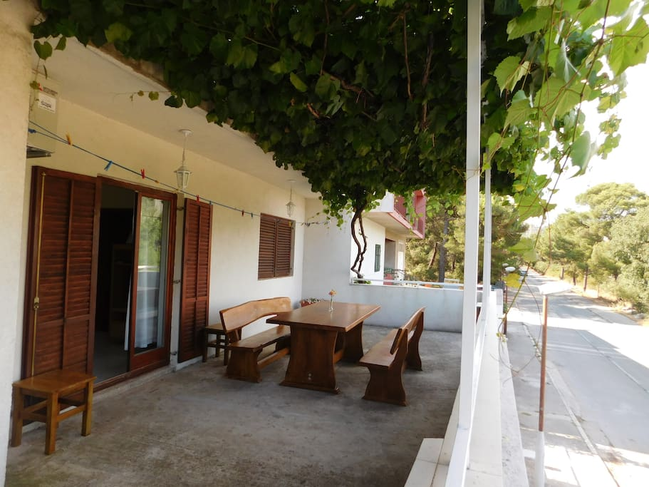 Beautiful terrace where you can have lunch, dinner or just enoy in the shades of grapevine.