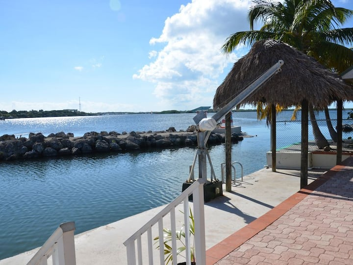 Direct bay views and  boat dock with ocean access