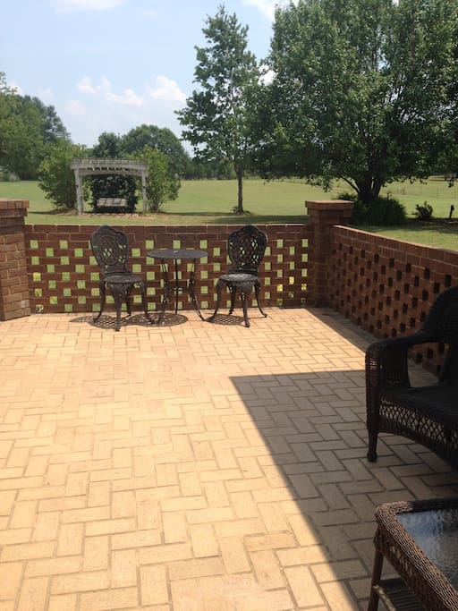 Beautiful patio deck fully furnished...