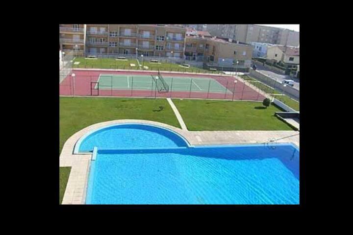 Apartamento T1 com piscina a 50m da praia