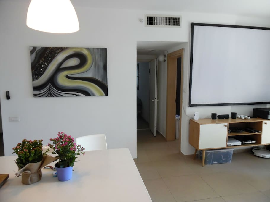 Gorgeous apartment, complete with projector and in home entertainment system, equipped with Xbox 360
