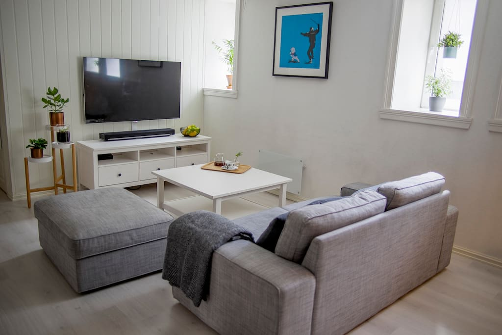 Sofa and smart-TV with Internet connection