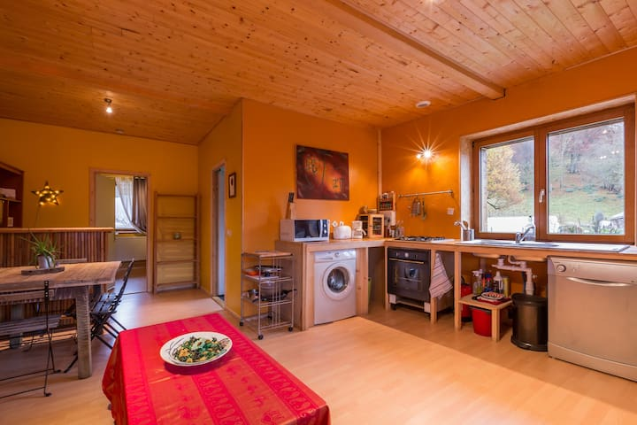 An authentic farm in the Bauges - Lescheraines - Apartemen