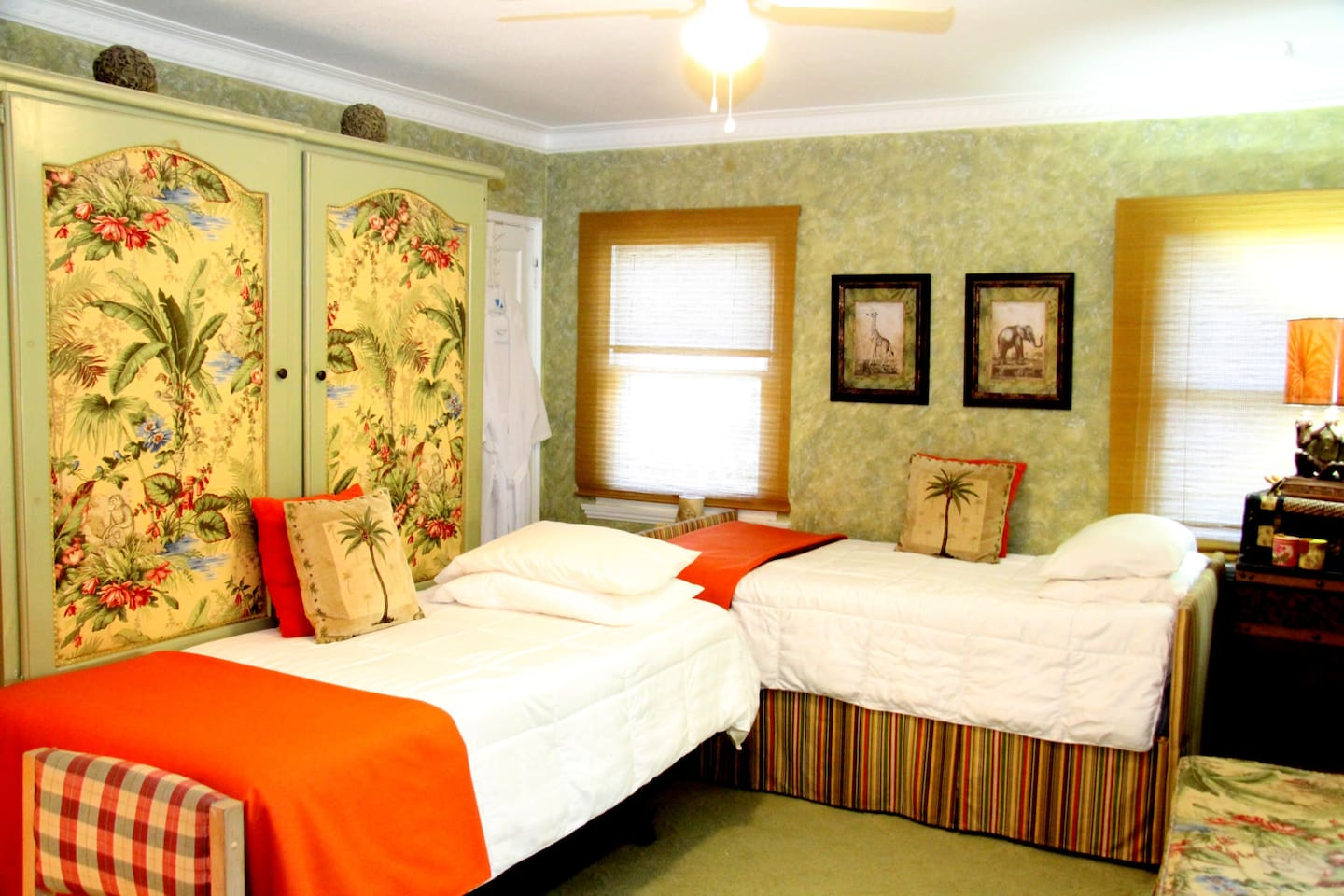 Twin bed configuration.