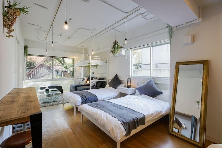【Chilling Studio】-10ppl/AppleTV/ 3Beds/4SofaBeds - Minato-ku - Apartment