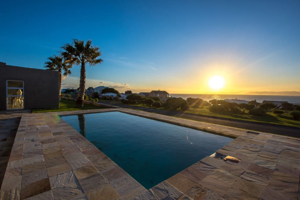 Swimming Pool with stunning sunsets over the ocean!