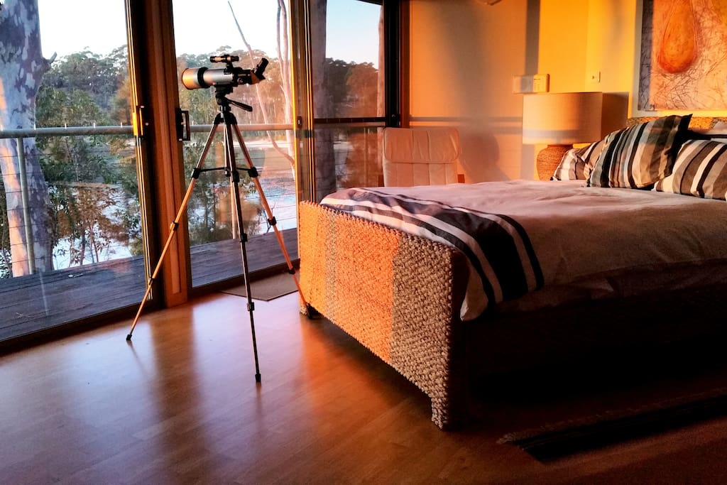 warm glow of sunrise in your bedroom