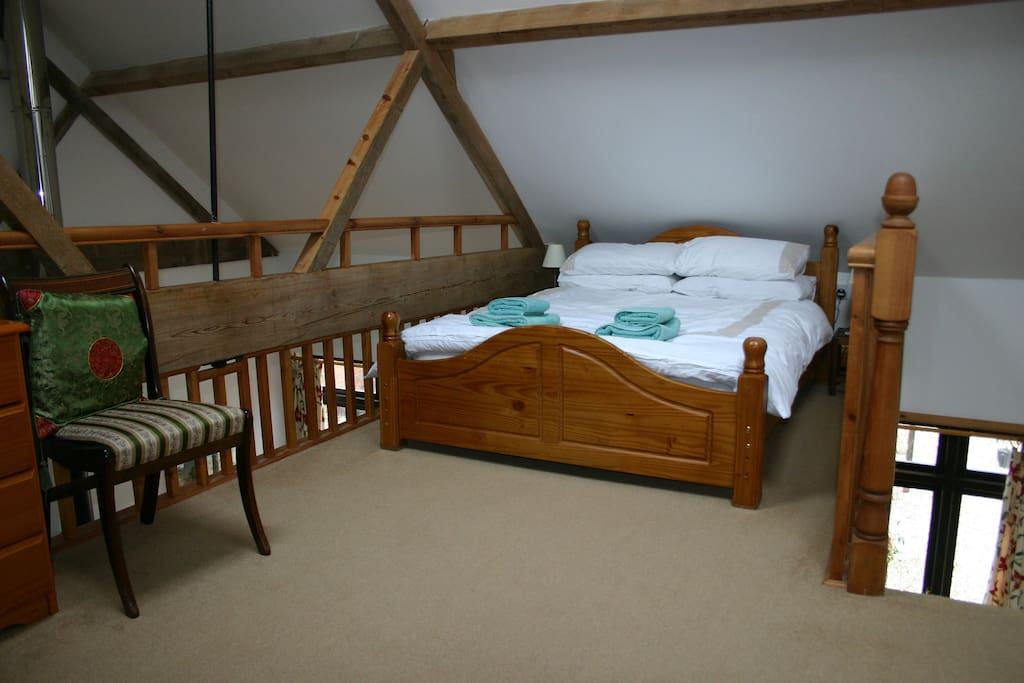 Bedroom on mezzanine floor