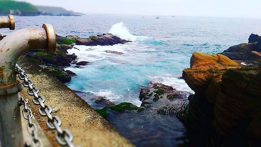 潮境公園的海很藍