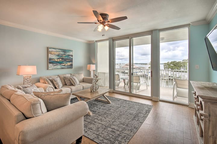 NEW! Coastal Condo w/ View, Walk to Beach & Pool!