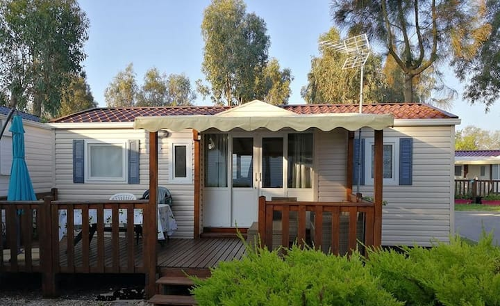 MOBILHOME 6 personnes  Camping 4* HYERES  PLAGE