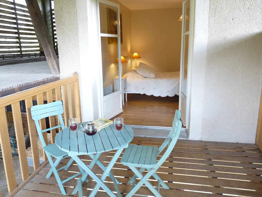 La terrasse/balcon de la chambre