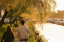 Take a walk along the beautiful water canal just outside of the house
