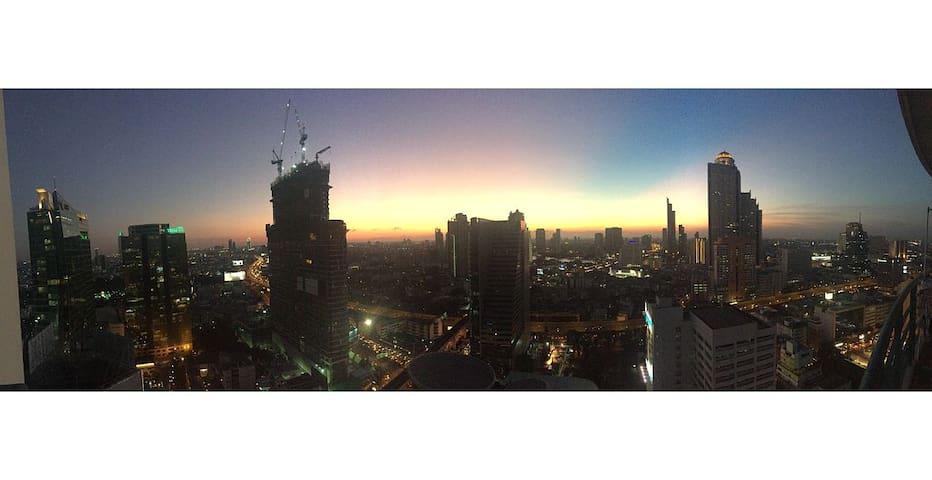 Skyscraper in CBD, Panoramic View - Bangkok - Kondominium