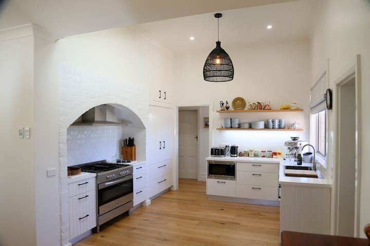 Renovated kitchen with all modern equipment