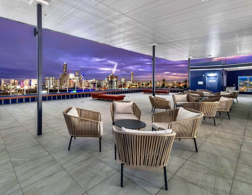 Rooftop with city view and BBQ facilities. Great place to relax and enjoying sunset or city light.