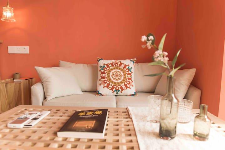 (你的摩洛哥)ins网红摩洛哥风张公桥美食街/极米投影哈曼卡顿音响,宜家超舒适床垫,入住超方便