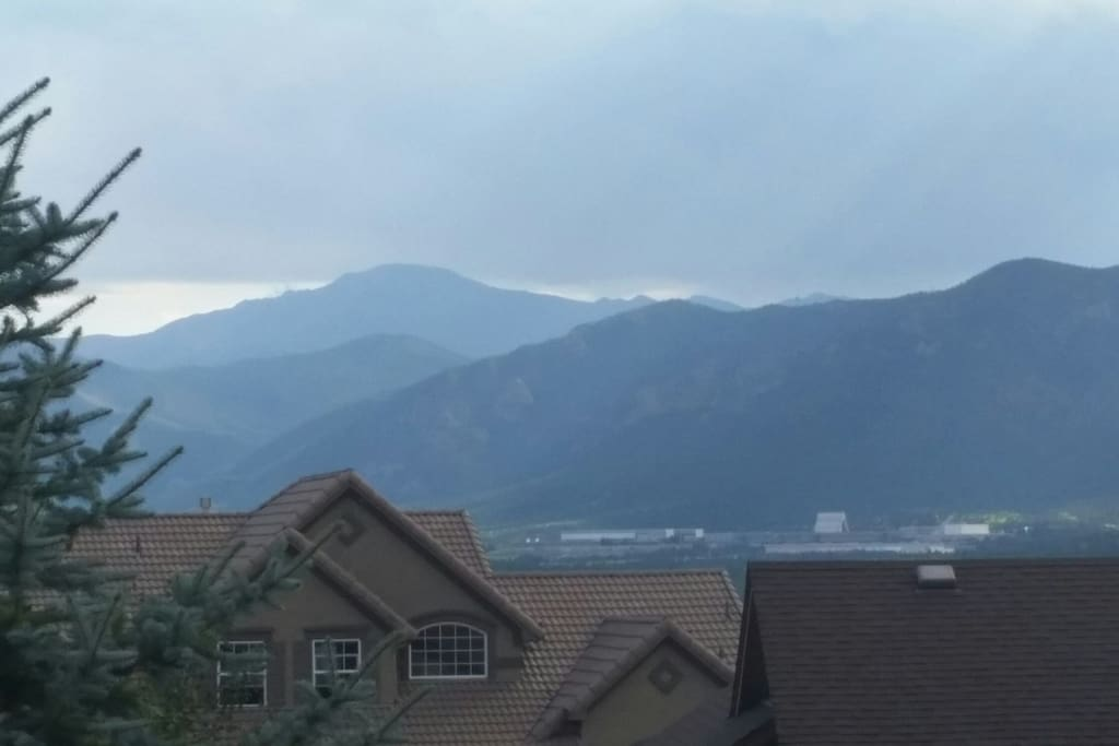 View of Pikes Peak & AF Academy from deck
