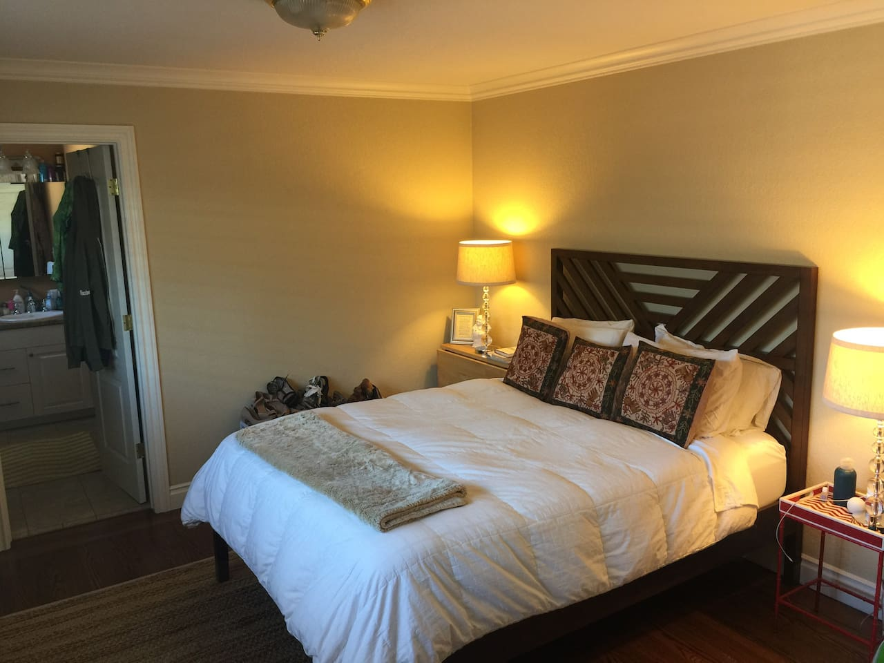 Your Bedroom . Currently has a double air mattress. Can be changed for a sofa bed.