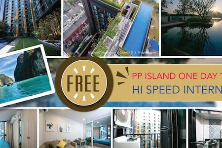 Luxury&RooftopPoolFastWifiFreeWater&ElecNearTown